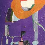 Maria Lynch, Sem Título, Óleo sobre tela, 87 x 87 cm.