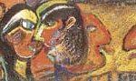 Rubens Gerchman Figura + Ação Óleo sobre tela 95 x 35 cm, 2005