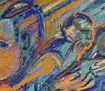 Rubens Gerchman Multidão 2 Óleo sobre tela 95 x 35 cm, 2005
