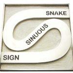 Rubens Gerchman Snake Aço inoxidável 43 x 43 x 10 cm, 1969/70 (1/2)