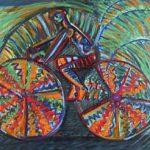 Rubens Gerchman Fast Bike no Coqueiral OST 70 x 100 cm, 2005