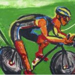 Rubens Gerchman O Ciclista (Verde) Ecológico OST 50 x 70 cm, 2004