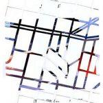 Fábio Carvalho Mapeamento da arte brasileira Impresso recortado, montado sobre papel canson 22 x 28 cm, 2007