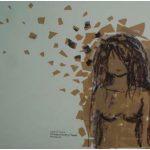 Eduardo Filipe Sem Título Tinta sobre fita adesiva colada na parede 80 x 100 cm
