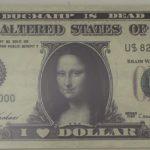 Camille Kachani, I Love Dollar – Série moeda vigente, Fotografia Digital Sobre MDF, 28 x 65 cm, 2004