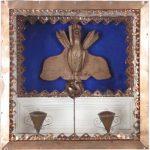 Divino Madeira, Cobre e pintura 37 cm x 37 cm, 2002
