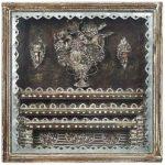 Oratório com Vaso de Flores Madeira e Galvanizado 50cm x 50cm, 2000