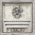 Oratório com Vaso de Flores Madeira, galvanizado e pintura. 50 cm x 50 cm, 1999