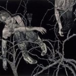 Marco Paulo Rolla The Glass Cup Acrílico sobre veludo 143 x 160 cm, 1997
