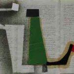 Júlio Villani 12 Juliett Óleo sobre documentos Cartoriais 18 x 32 cm, 2011