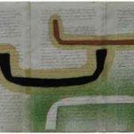 Júlio Villani Arrimo Óleo sobre Documentos Cartoriais 18 x 32 cm, 2011.