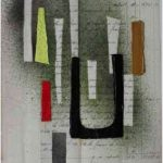 Júlio Villani Chuva Óleo sobre Documentos Cartoriais 30 x 21 cm, 2011.