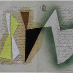Júlio Villani Danse 2 Óleo sobre documentos Cartoriais 30 x 40 cm, 2011