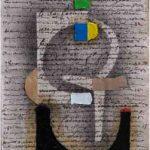 Júlio Villani Elefante Óleo sobre Documentos Cartoriais 24 x 18 cm, 2011.