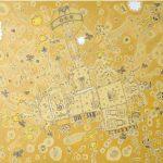 O Passeio Acrílica, Têmpera e Lápis Grafite sobre tela 90 x 90 cm