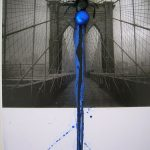 Flumenpont n°1, Universe New York, Fotografia, encáustica, vidro, plástico e limalha, 39 x 31 cm, 2001-2005.