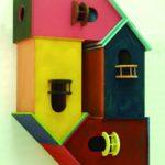 Felipe Barbosa, Condomínio Max Bill, MDF pintado, 45 x 50 x 20 cm, 2009.