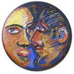 Amor Circular Acrílica e óleo sobre tela 60 cm de diâmetro