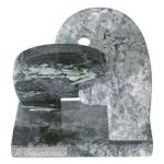 Beijo Escultura em pedra de esmeralda 20 x 21 x 13 cm