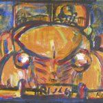 Carro Dourado Acrílica e óleo sobre tela 23 x 30 cm, 2004