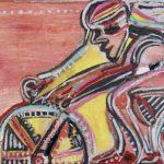 Fast Bike Acrílica e óleo sobre tela 50 x 70 cm