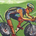 O Ciclista Verde Ecológico Acrílica e óleo sobre tela 50 x 70 cm