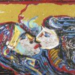 Romantic Couple Acrílica e óleo sobre tela 50 x 70 cm