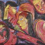 Seqüência Close Ups Acrílica e óleo sobre tela 100 x 200 cm
