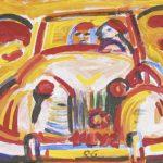 Yellow Car Acrílica e óleo sobre tela 23 x 30 cm, 2004.