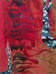 "Felipe Yung ""Venezuelan Blue Woodland"" Técnica mista sobre madeira 216 x 75 cm, 2010"