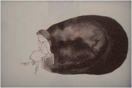 Thais Beltrame Memória Distante Nanquim e Aquarela sobre papel 17 x 25 cm, 2009