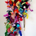 Maria Lynch Escultura Parede Técnica Mista 230 x 80 x 40 cm, 2012.