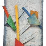 461, Aquarela e Colagem, 12 x 8,5 cm
