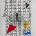 Attrape rêve II, Trama, 92 x 64 x 25 cm