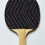 DAG-Untitled, multiple, acrylic paint on table tenis racket, 25,3 X 15,7 cm, 2013