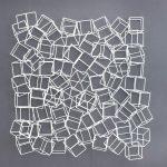 Luiz Hermano, Reação em cadeia 3, ferro soldado, 100 x 90 x 20 cm, 2017.