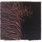 Marcos Coelho Benjamim, Quadrado, Zinco oxidado pintado em rosa e preto, 50 x 50 cm