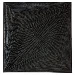 Marcos Coelho Benjamim, Quadrado, zinco oxidado, 50 x 50 cm, 2004.