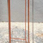 Sérvulo Esmeraldo, Sem Título, Escultura em Aço inox trefilado, 192,5 x 80 x 80 cm, 2015