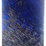 Marcos Coelho Benjamim, Retângulo Azul, Zinco oxidado pintado em Azul, 80 x 160 cm, 2013.