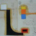 Júlio Villani Sem Título Óleo sobre documentos cartoriais 30 x 42 cm., 2006.