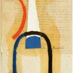 Júlio Vilani Dumensnil Óleo e papel sobre documentos notariais, 25 x 18 cm, 2008.
