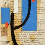 Júlio Vilani Pensamento Óleo e papel sobre documentos notariais, 25 x 18 cm, 2008.