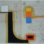 Júlio Villani Sem Título Óleo sobre Documentos Cartoriais 30 x 42 cm, 2009.