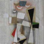 Júlio Villani, vingtiene, Óleo sobre documentos cartoriais, 58 x 50 cm, 2011.