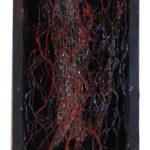 Arthur Piza, T – 0737, Arame galvanizado e madeira pintada, 11 x 6 cm.