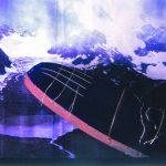 Anna Bella Geiger, Brazil is in my head, Foto, Ferro, Veludo em Blacklight, 53 x 80 x 24 cm, 1998.