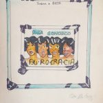 Anna Bella Geiger, Burocracia, Guache e nanquim sobre papel, 25,5 x 20,5 cm, 1975.