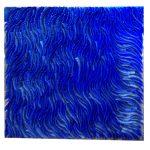 Marcos Coelho Benjamim, Quadrado, zinco oxidado pintado em Azul, 50 x 50 cm