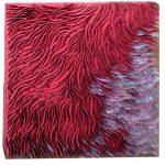 Marcos Coelho Benjamim, Quadrado, zinco oxidado pintado em Vermelho, 50 x 50 cm